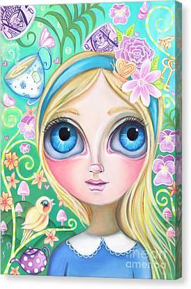 Mad Hatter Canvas Print - Alice In Pastel Land by Jaz Higgins