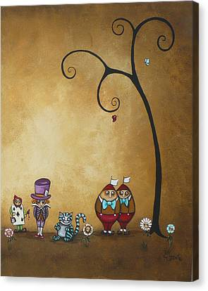 Alice In Wonderland Art - Encore - II Canvas Print by Charlene Zatloukal