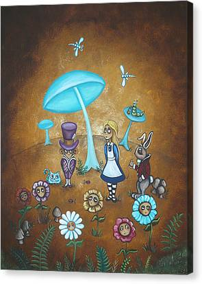 March Hare Canvas Print - Alice In Wonderland - In Wonder by Charlene Murray Zatloukal