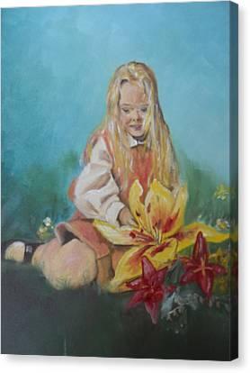 Alice In Wonderland Canvas Print by Joyce Reid