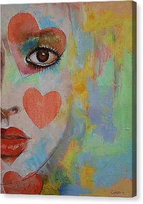 Mike Canvas Print - Queen Of Hearts by Michael Creese