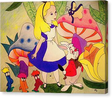 Alice Canvas Print by Jessica Sanders