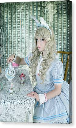 Alice Lolita Canvas Print by Christine Holding