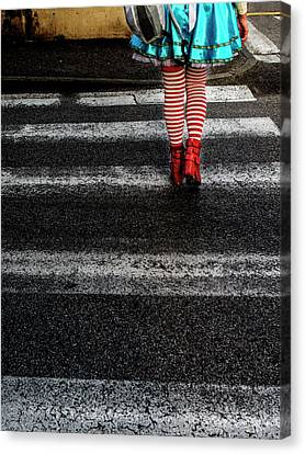 Crosswalks Canvas Print - Alice by Massimo Della Latta