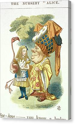 Alice With Her Croquet Canvas Print by British Library
