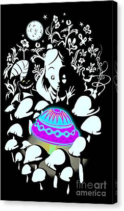 Alice's Magic Discovery Canvas Print by Sassan Filsoof