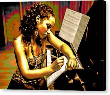 Alicia Keys Canvas Print by  Fli Art