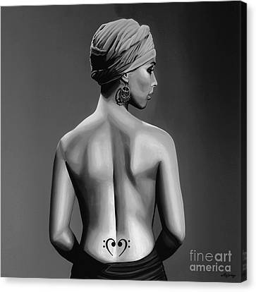 Alicia Keys Canvas Print