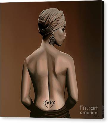 Alicia Keys  Canvas Print by Paul Meijering