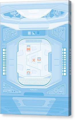 Alien 1979 Poster - Airlock Canvas Print by Peter Cassidy