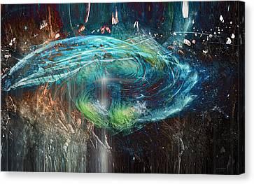 Alien Abduction Canvas Print by Linda Sannuti