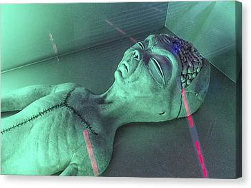 Alien Autopsy Canvas Print