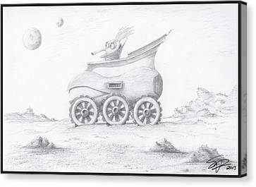 Alien Buggy Canvas Print by Steven Powers SMP