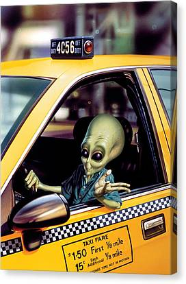 Alien Cab Canvas Print by Steve Read