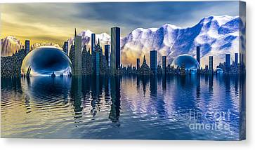 Alien Cityscape  Canvas Print