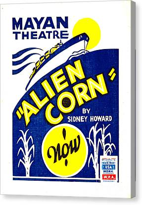 Alien Corn 1938 Canvas Print by Padre Art