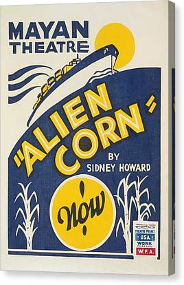Canvas Print featuring the painting Alien Corn by American Classic Art