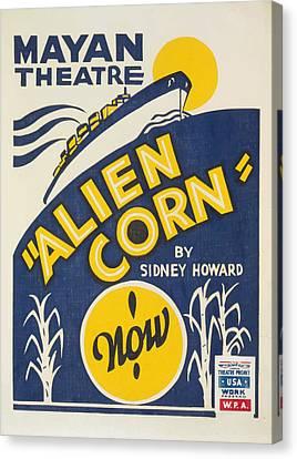 Alien Corn Canvas Print by American Classic Art