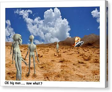 Alien Crash Ver - 2 Canvas Print