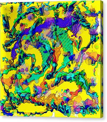 Canvas Print featuring the digital art Alien Dna by Alec Drake