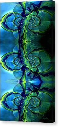 Alien Dna Canvas Print by Robert Kernodle