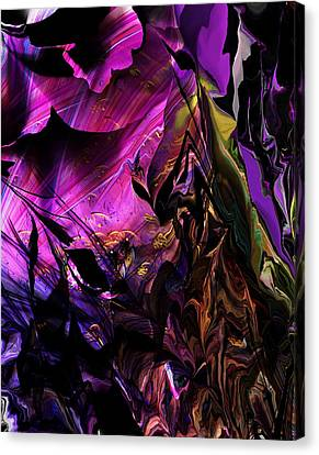 Canvas Print featuring the digital art Alien Floral Fantasy by David Lane