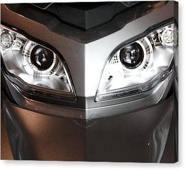 Alien Headlights  Can Am Spyder Motorcycle Canvas Print