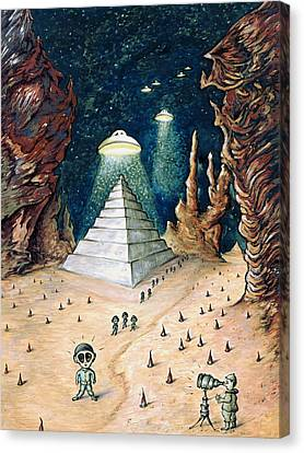 Alien Invasion - Space Art Canvas Print by Art America Online Gallery