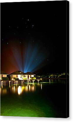 Alien Light At The Tropical Resort Canvas Print by Jenny Rainbow