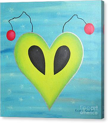 Alien Love Canvas Print by Kristi L Randall