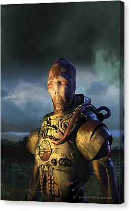 Alien Master Canvas Print by Gary Hanna
