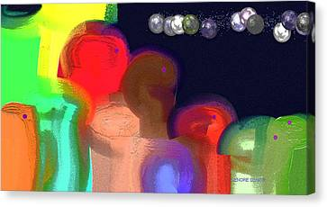 Alien Observations Canvas Print by Lenore Senior