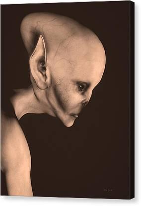 Alien Portrait  Canvas Print by Bob Orsillo