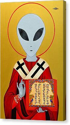 Alien Saint Canvas Print by Abo  Art