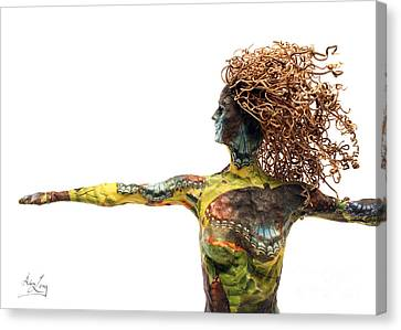 Alight A Sculpture By Adam Long Canvas Print by Adam Long