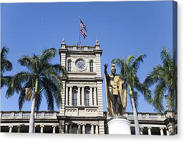 Aliiolani Hale Canvas Print by Brandon Tabiolo