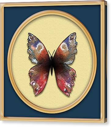 Alizarin Butterfly Canvas Print