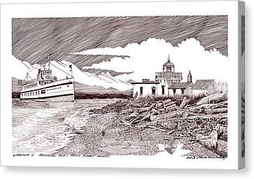 Steamship Virgina V Rounding Alki Point Seattle Canvas Print by Jack Pumphrey