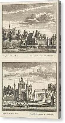 Alkmaar With City Gates And The Great Church Canvas Print by Litz Collection