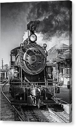 All Aboard Bw Canvas Print by Susan Candelario