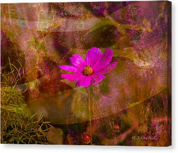 Canvas Print featuring the digital art All Alone by J Larry Walker