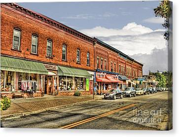 All Along Main Street Canvas Print