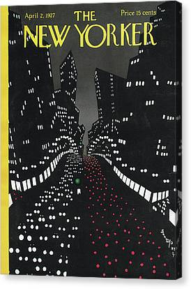 All Along The Avenue Canvas Print by Toyo San