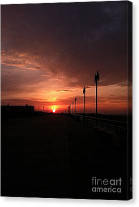 Reflection Of Sun In Clouds Canvas Print - All Along The Boardwalk by John Telfer