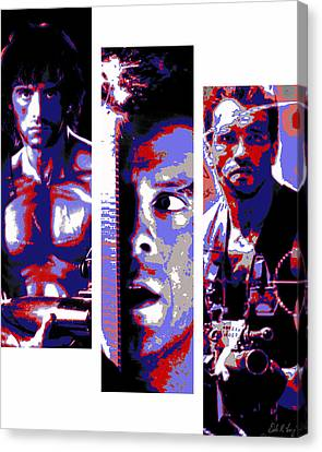 All-american 80's Action Movies Canvas Print