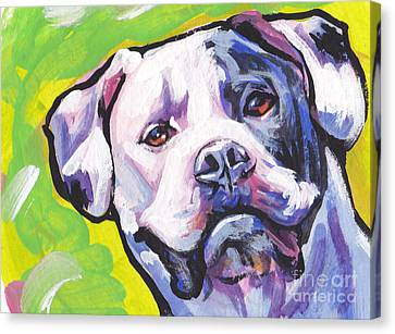 All American Bully Canvas Print by Lea S