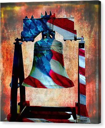 Liberty Bell Art Smooth All American Series Canvas Print by Lesa Fine
