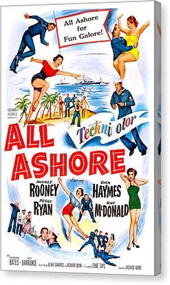 All Ashore, Us Poster, Top Right Mickey Canvas Print by Everett