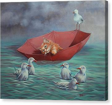 Canvas Print featuring the painting All At Sea by Cynthia House