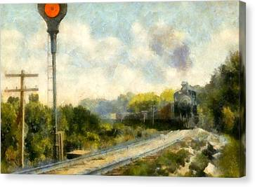 All Clear On The Pere Marquette Railway  Canvas Print by Michelle Calkins